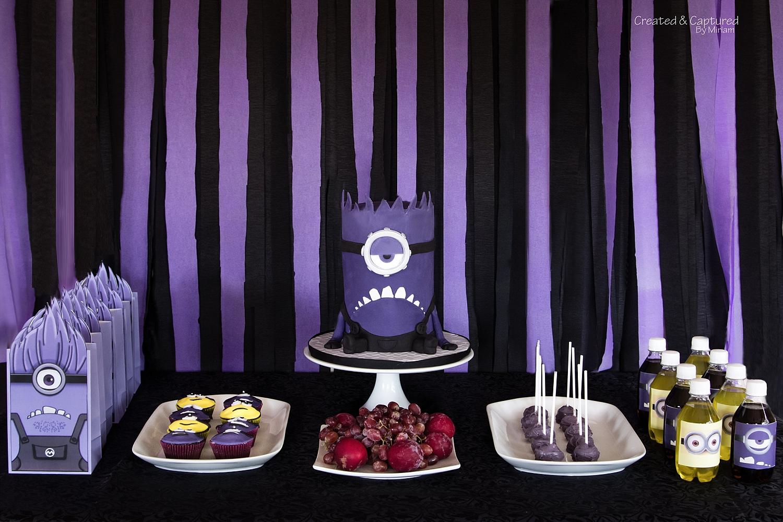 Purple Minion Dessert Table