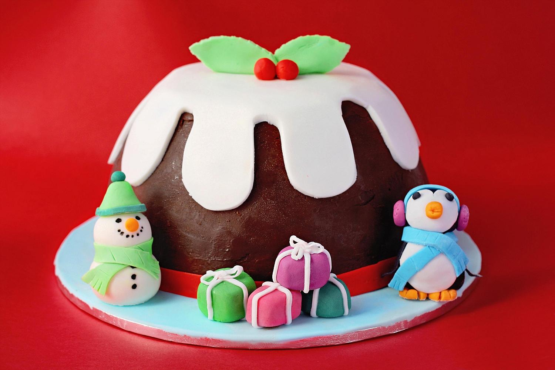 Christmas Plum Pudding Cake