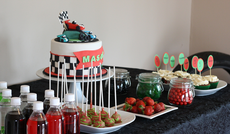 Racing Car Dessert Table