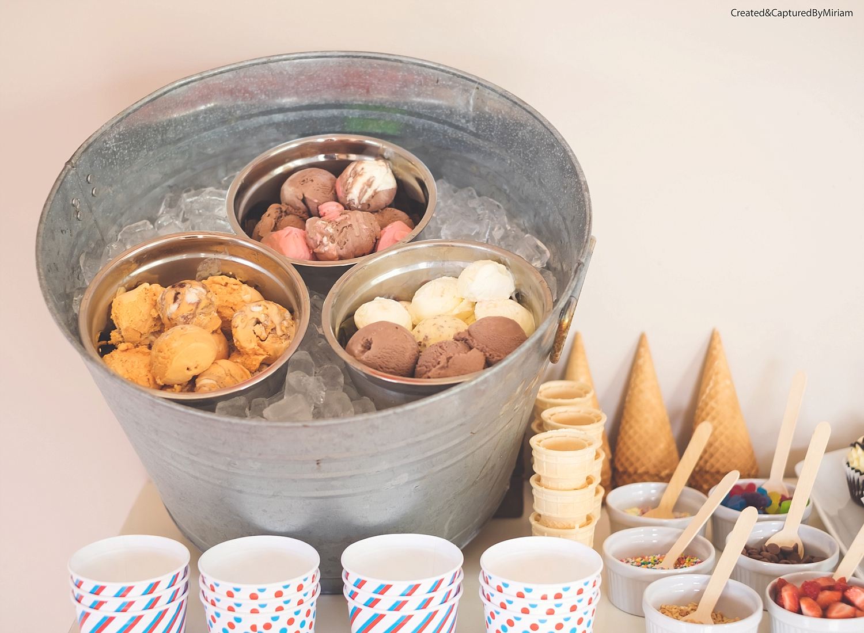 Ice-Cream Dessert Table