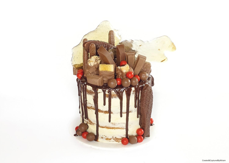 Semi-Naked Drippy Cake