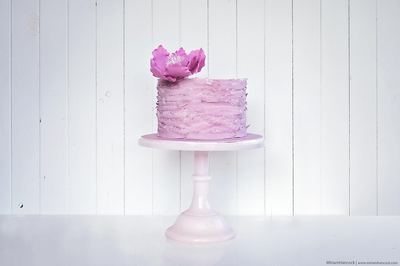 Fuschia Ruffle Cake