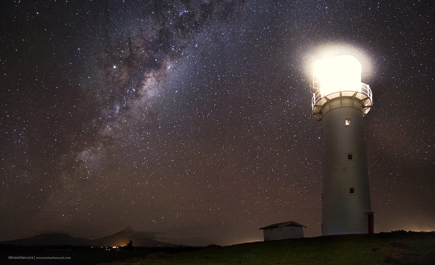 Milky Way over Cape Egmont Lighthouse
