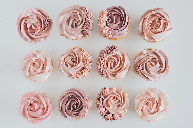 Pink Cupcake Rosettes