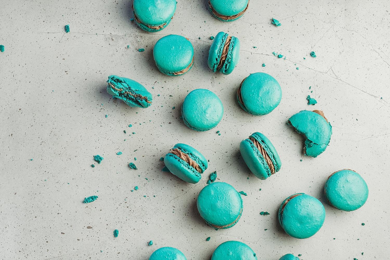 Teal Macarons