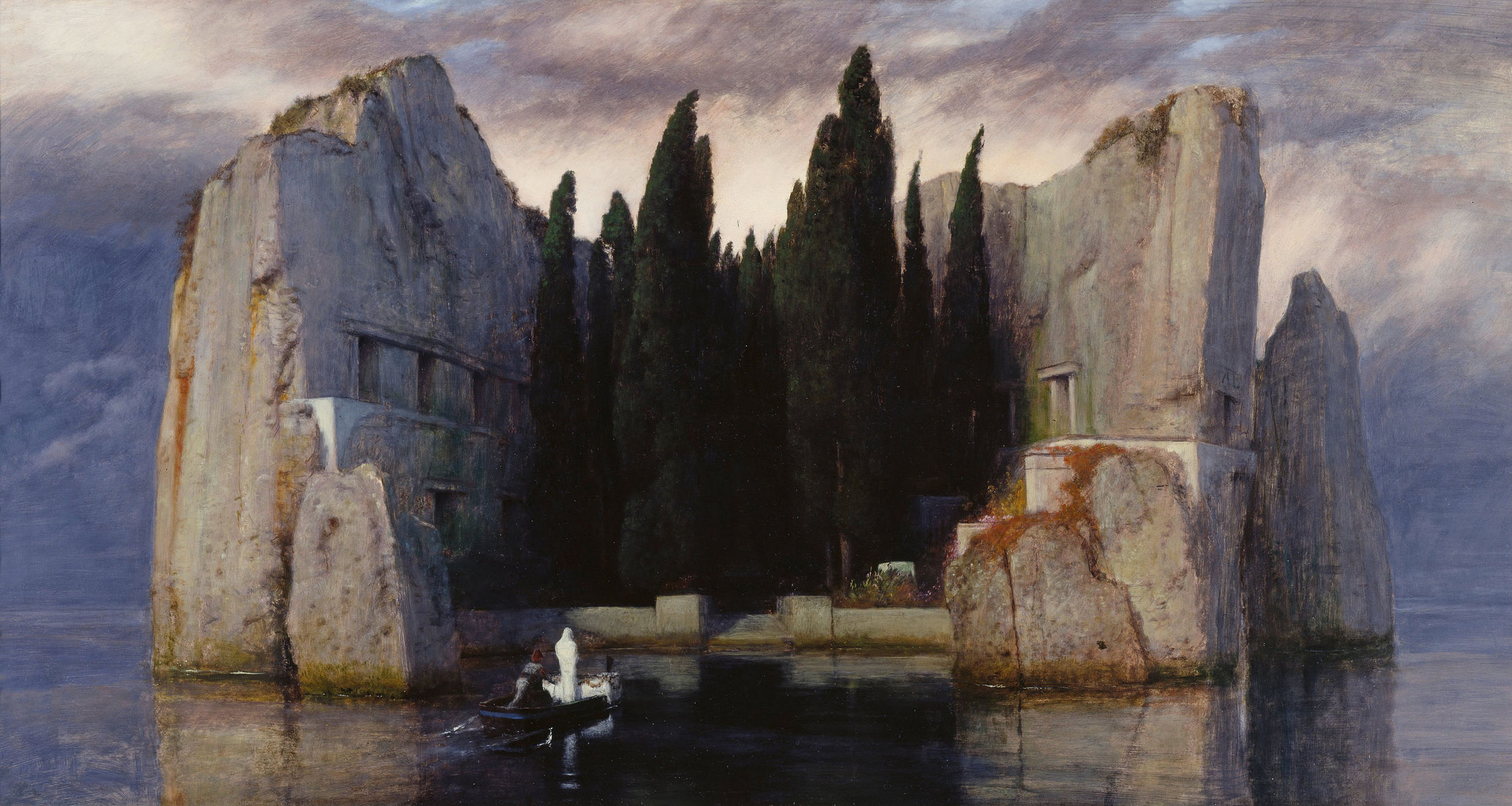 Arnold Böcklin,  Isle of the Dead : Third Version, 1833