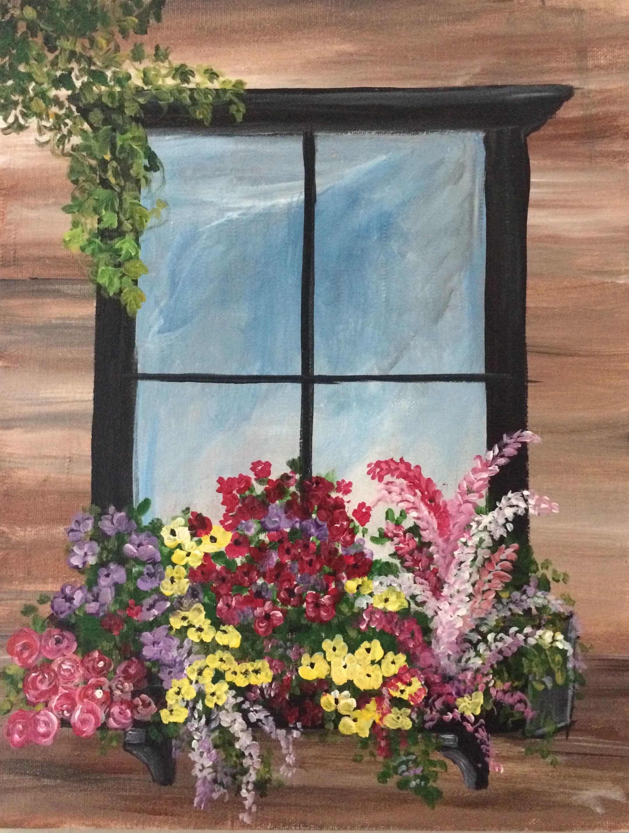 Blooming window in spring