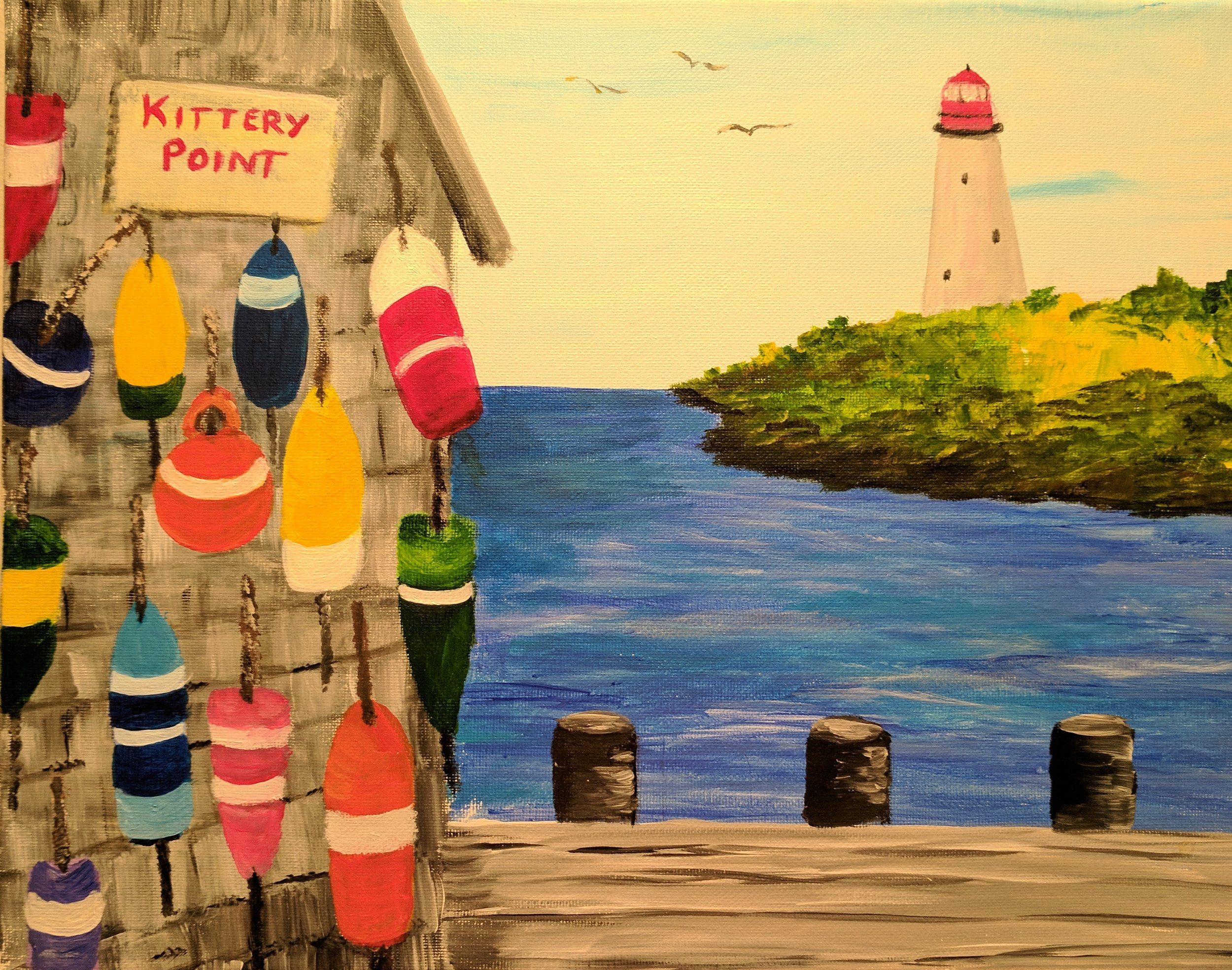 Buoys at the seacoast