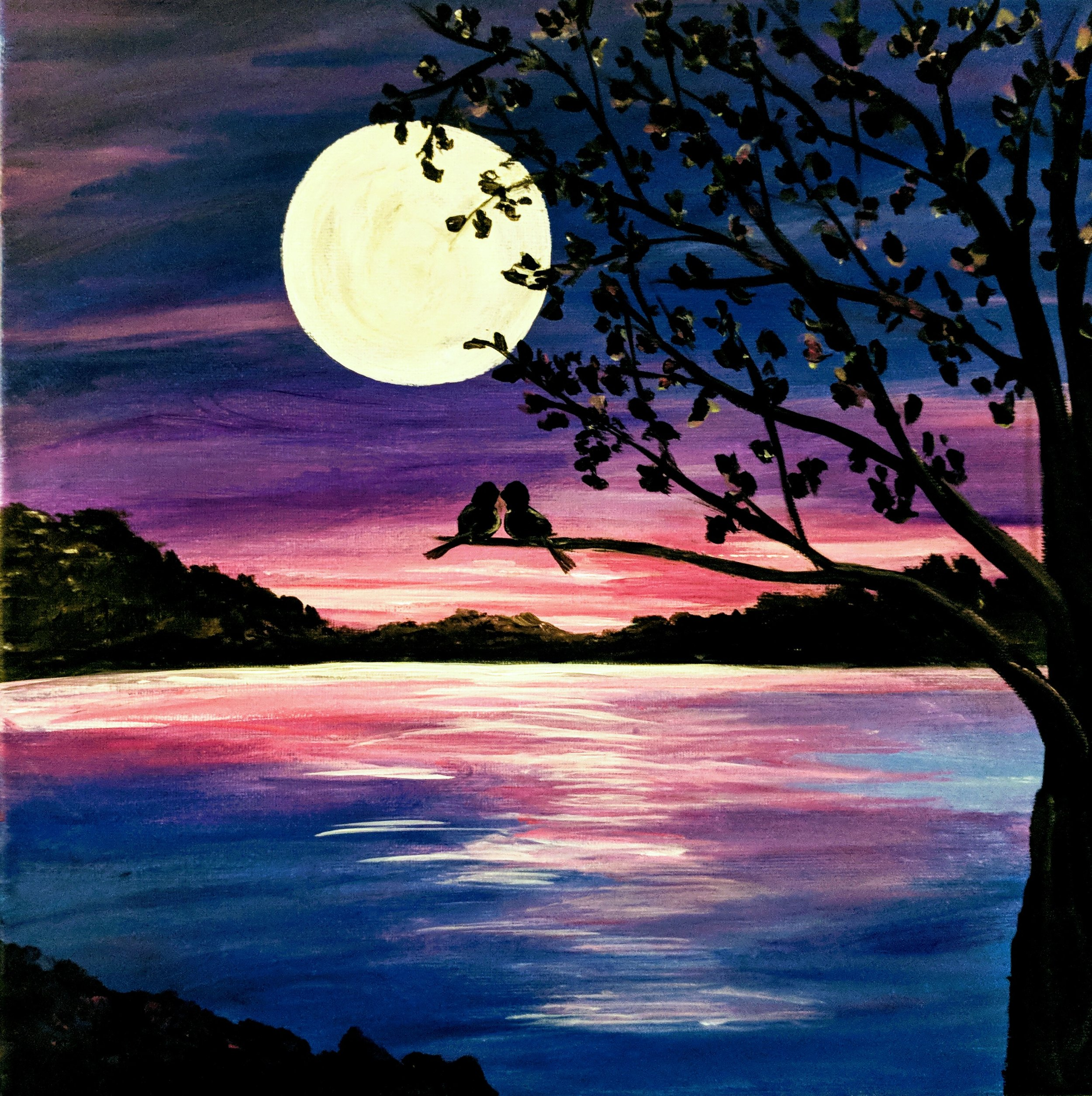 Moonlight Love Birds