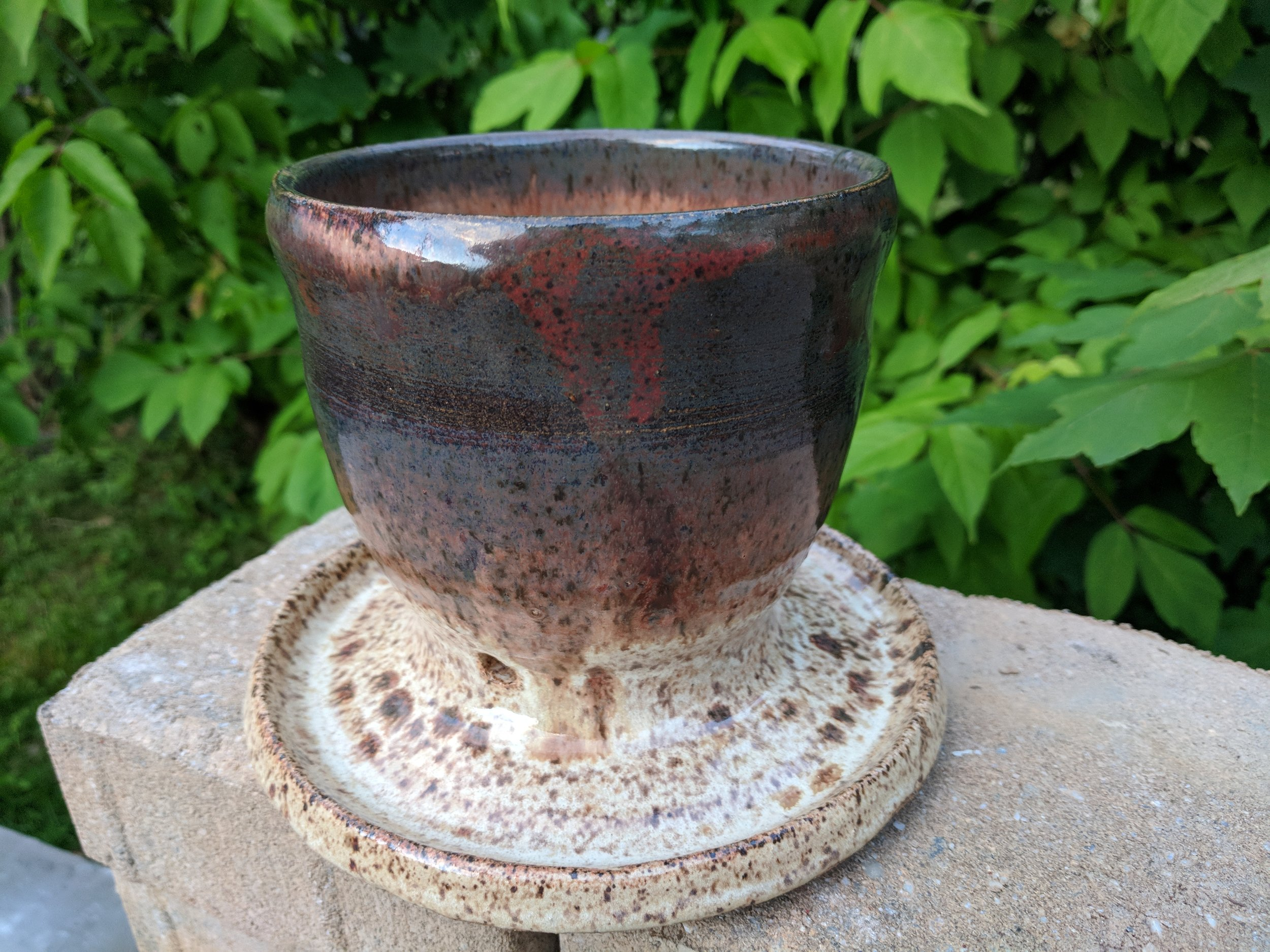 Earth tone planter