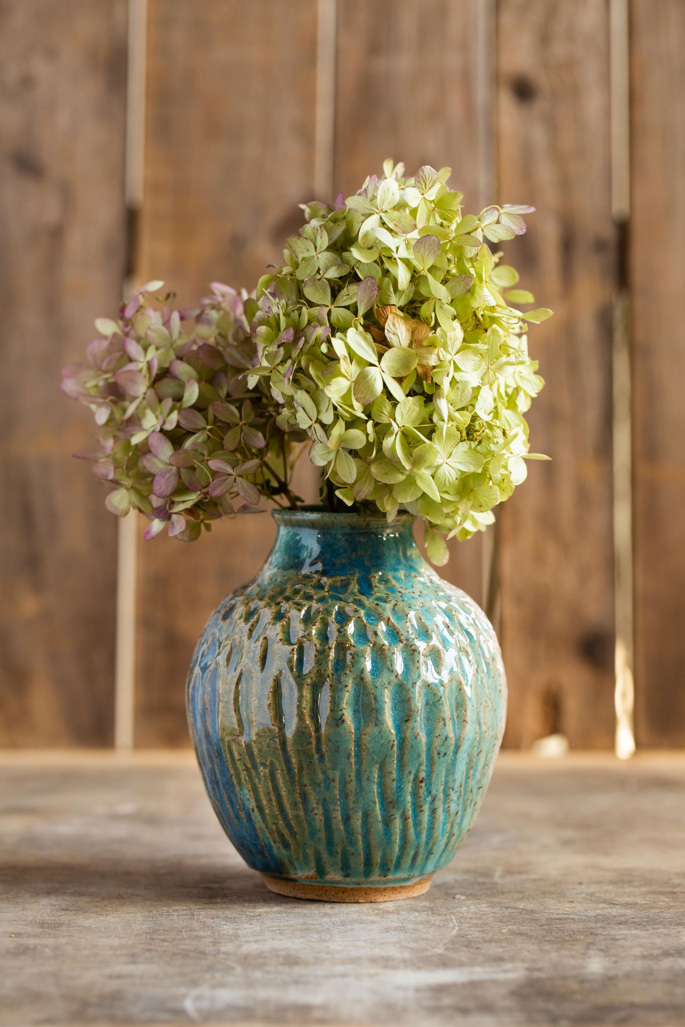 Lively, textured vase