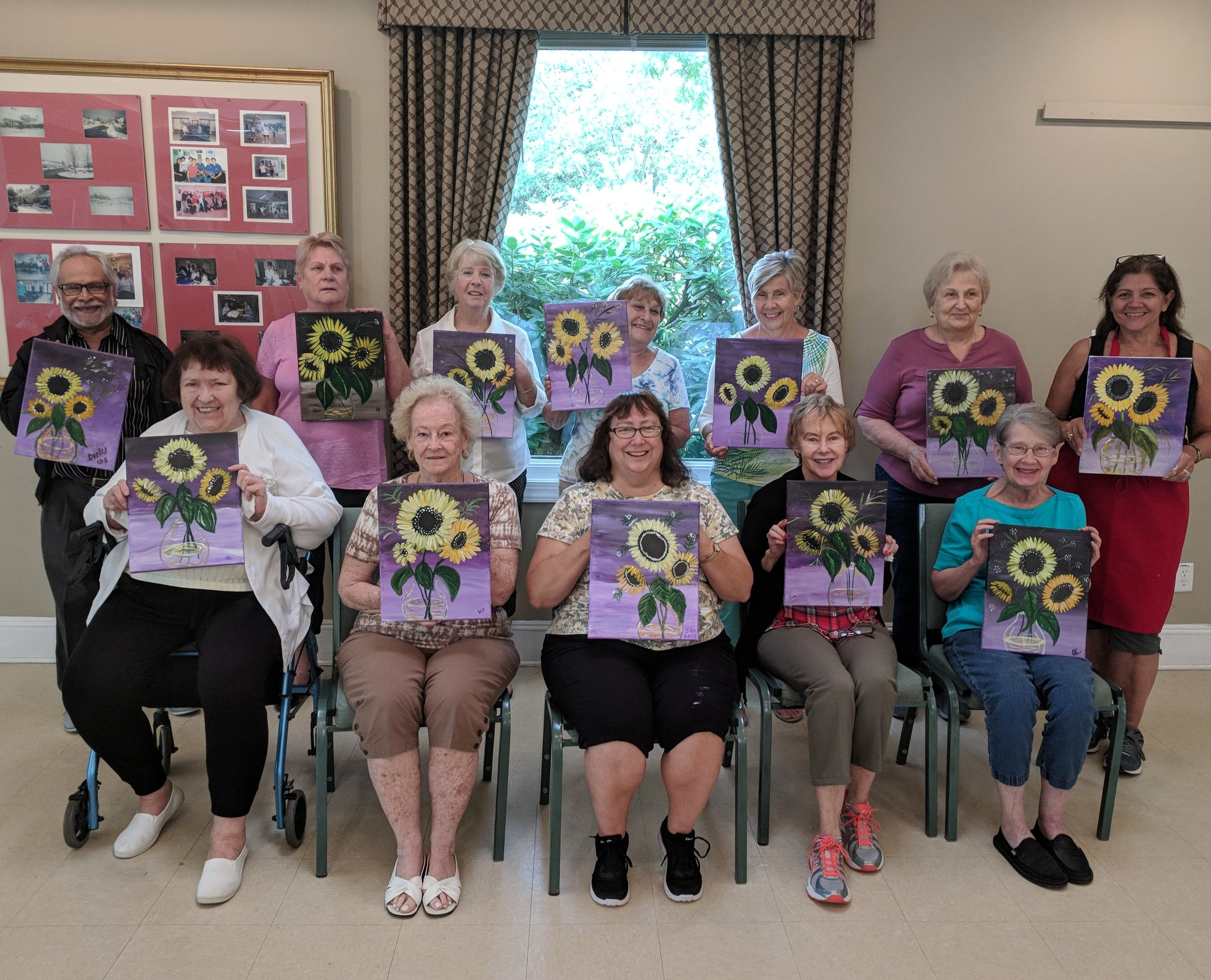 Fabulous Sunflowers -     Paint Party at the Four Seasons Country Club