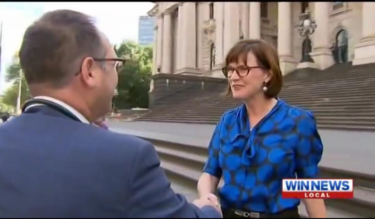 Grant Blashki meeting Secretary for Health Mary Anne Thomas - see  video  here