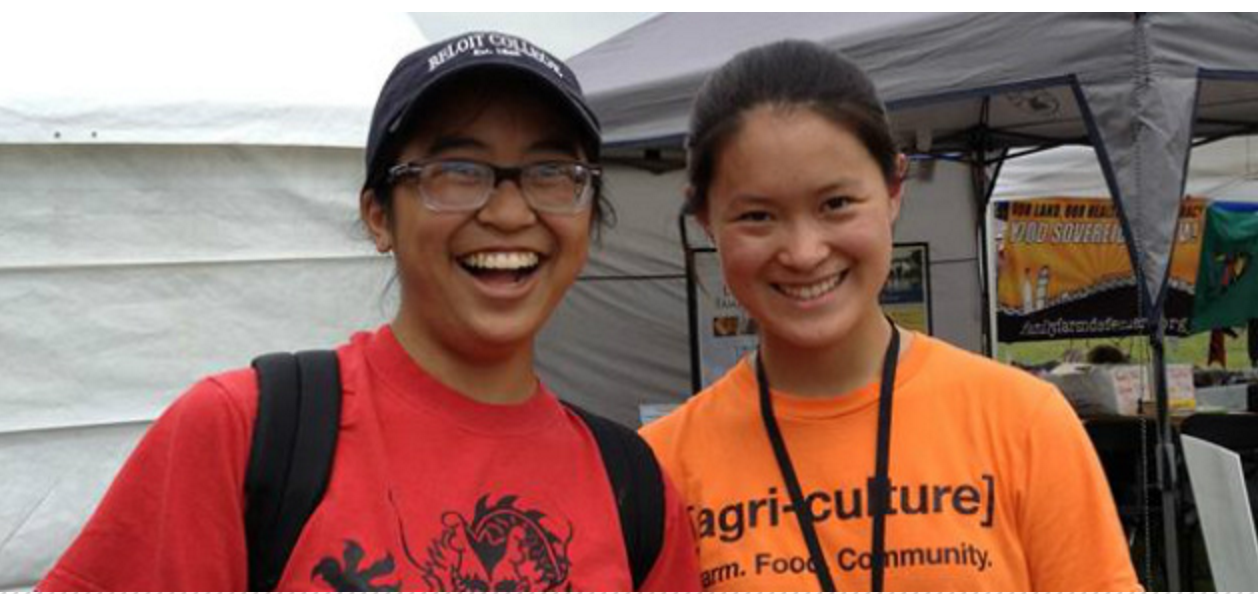 Pen pals Maia and Jaia happen to see each other at a renewable energy fair!