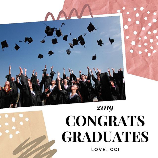 As the school year starts to end, CCI wants to congratulate all our graduates! We are so very proud of you!