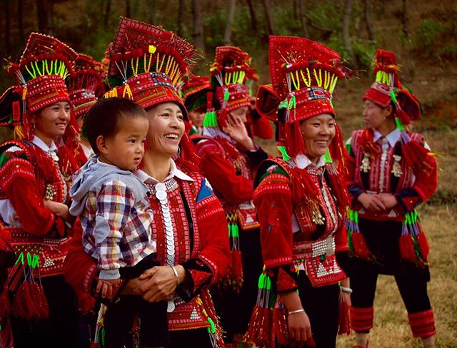 Tales from China/// Back in February, I went to Yunnan, which is a southwestern province in China. This is a group of Yi people watching as international students try to perform their dances. Isn't their clothing beautiful? Of more than 9 million Yi people, more than 4.5 million live in Yunnan. I'll try to upload some videos of their dances later. . . . . . . . . . . . . . . #adoption #adoptees #china #explorechina #birthcountry #chineseadoption #photography #travel #traveljournal #yunnan #explore #chinese #learning