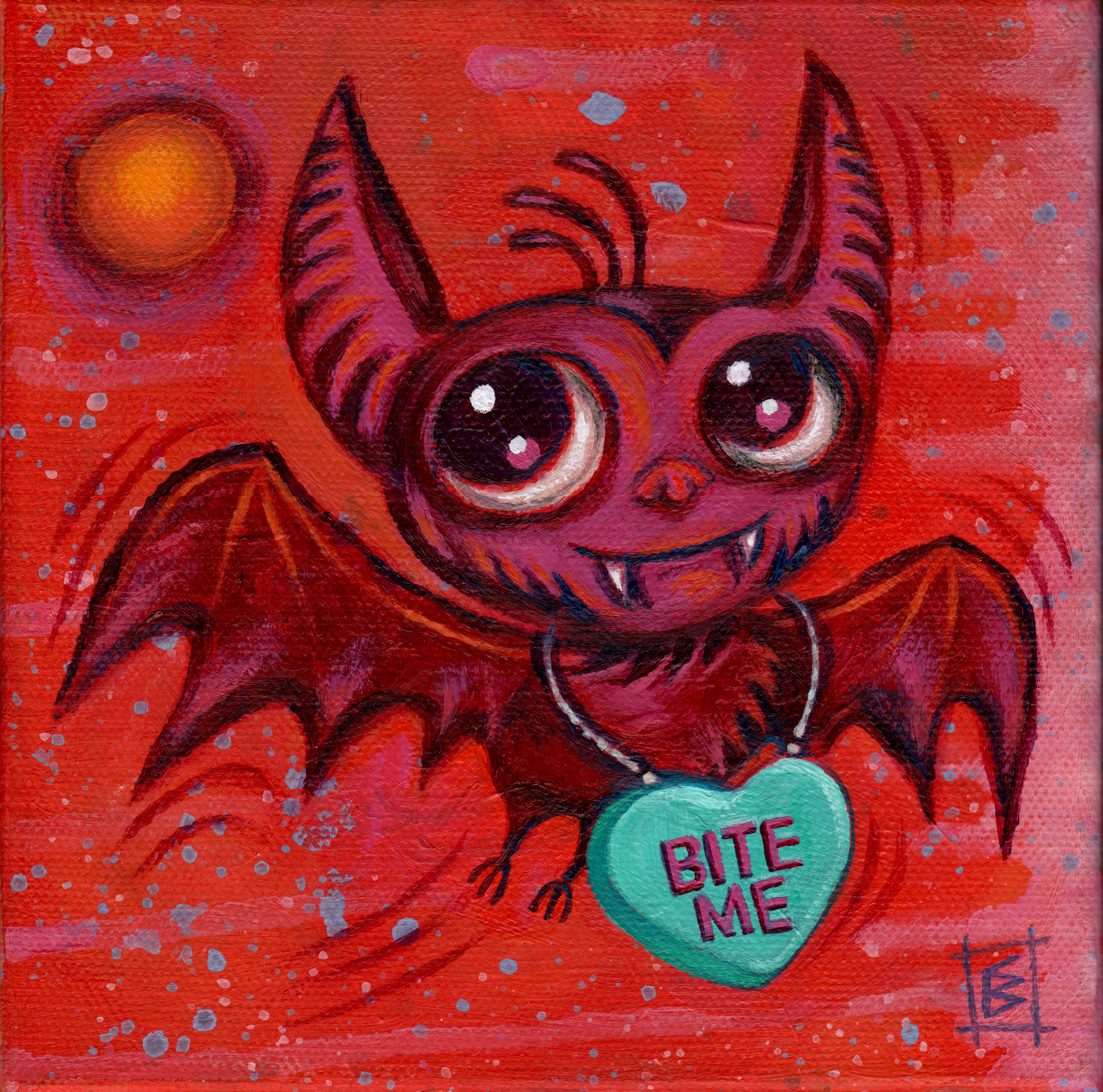 EVOL/LOVE    is a Valentine's Day themed group show at  Psycho Donuts  in Campbell CA and the show runs from February 1st to February 28th 2017.