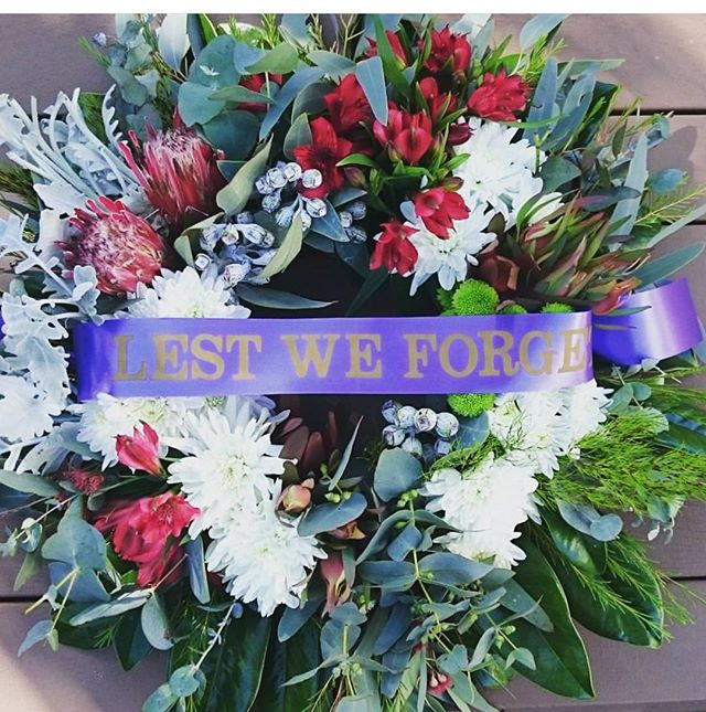 Closed for Anzac Day today. Lest we forget. #anzacdaywreaths #lestweforget #goldcoastflorist #goldcoastflowers #wreaths #wewillremember #anzacday