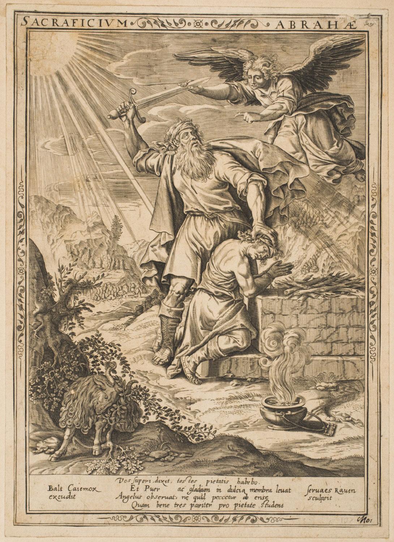 Abraham's Sacrifice  , c. 1650-1700, by Servatius Raven, Dutch from the  Philadelphia Museum of Art