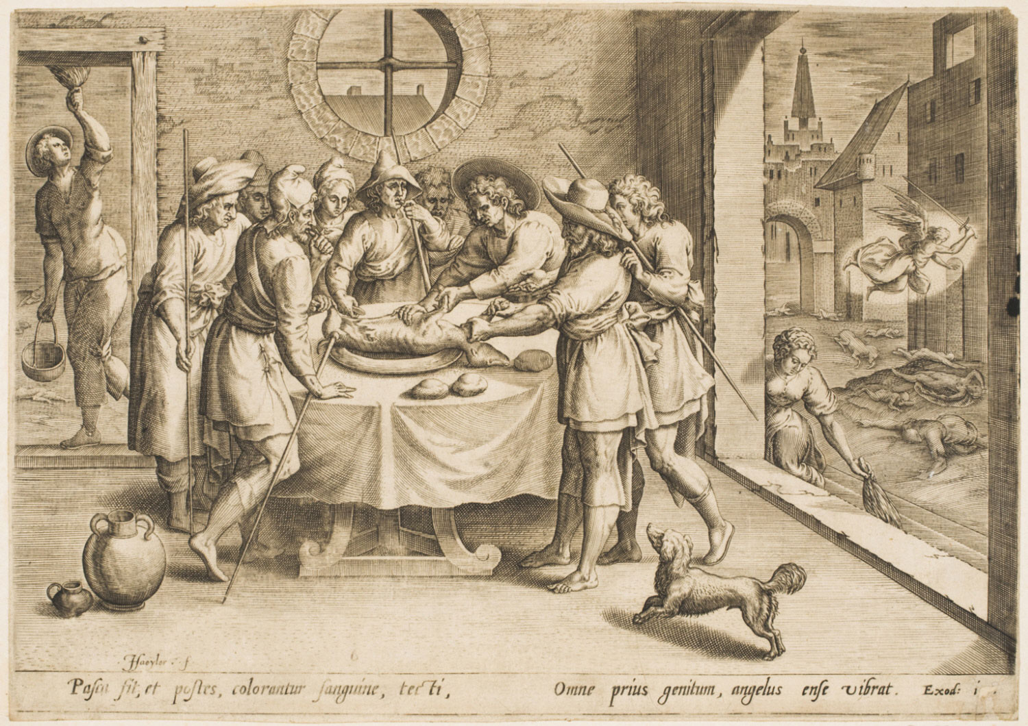 Preparation for the Passover  , 1585, by Jan Sadeler I, Flemish from the  Philadelphia Museum of Art