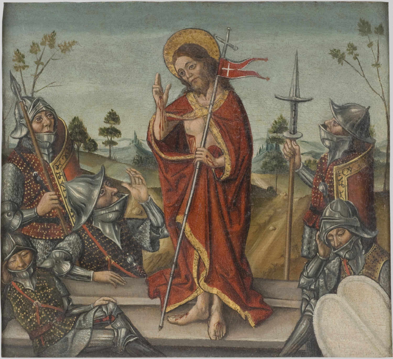 The Resurrection  , 15th Century, Artist Unknown, Spanish from the  Philadelphia Museum of Art