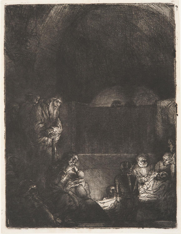 The Entombment,  Rembrandt Harmensz. van Rijn, c. 1654 Dutch, from the  Philadelphia Museum of Art