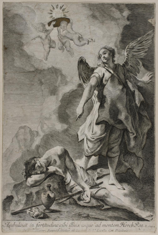 Melchisidech Receiving Bread and Wine  , 18th century, by Giovanni Antonio Faldoni, Italian, from the  Philadelphia Museum of Art