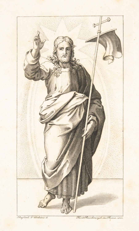 Christ Triumphant  , 1827, by Ferdinand Ruscheweyh, German from the  Philadelphia Museum of Art
