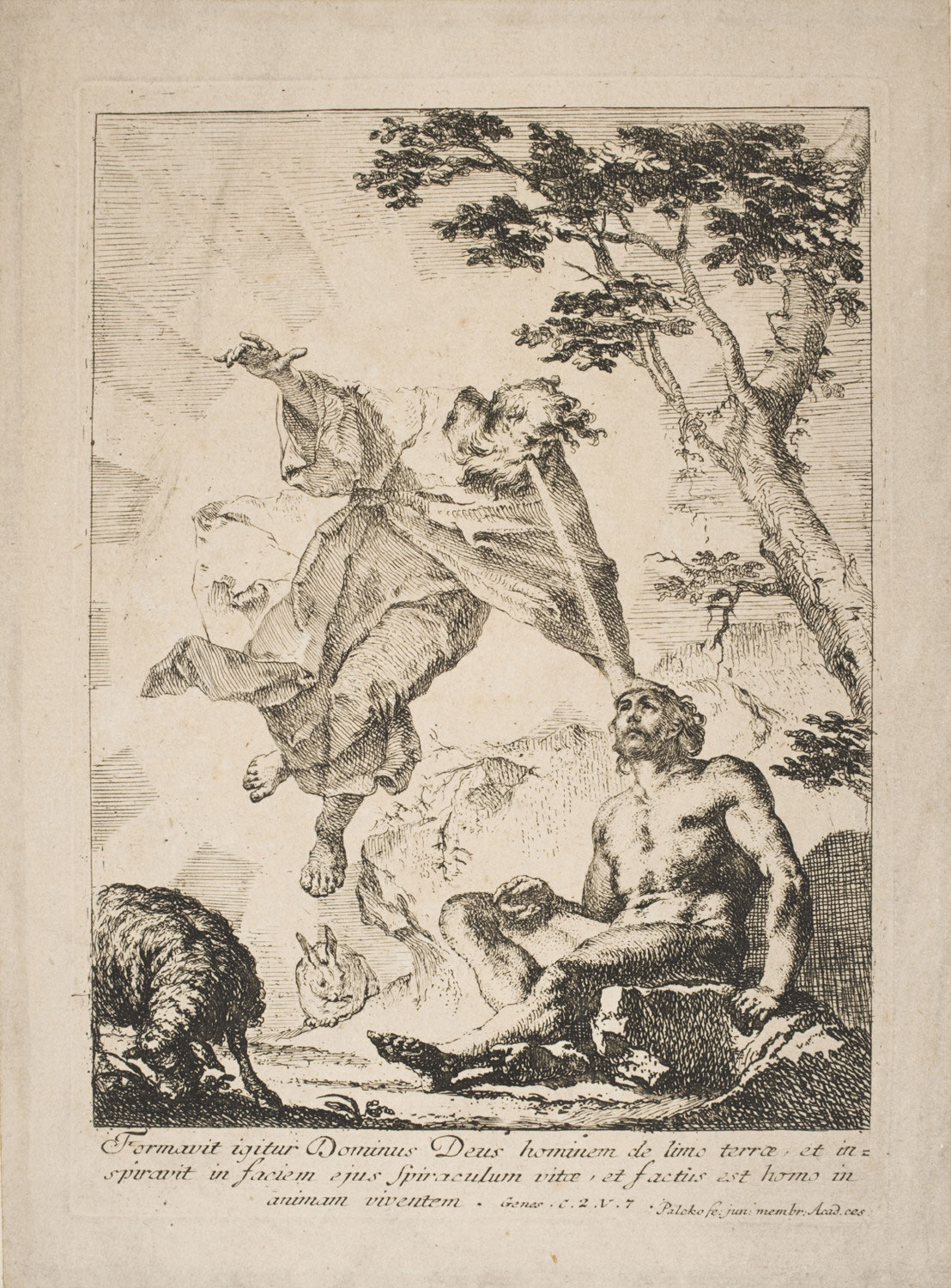 God Breathing Life into Adam  , mid-18th Century, by Franz Carl Palko, German from the  Philadelphia Museum of Art