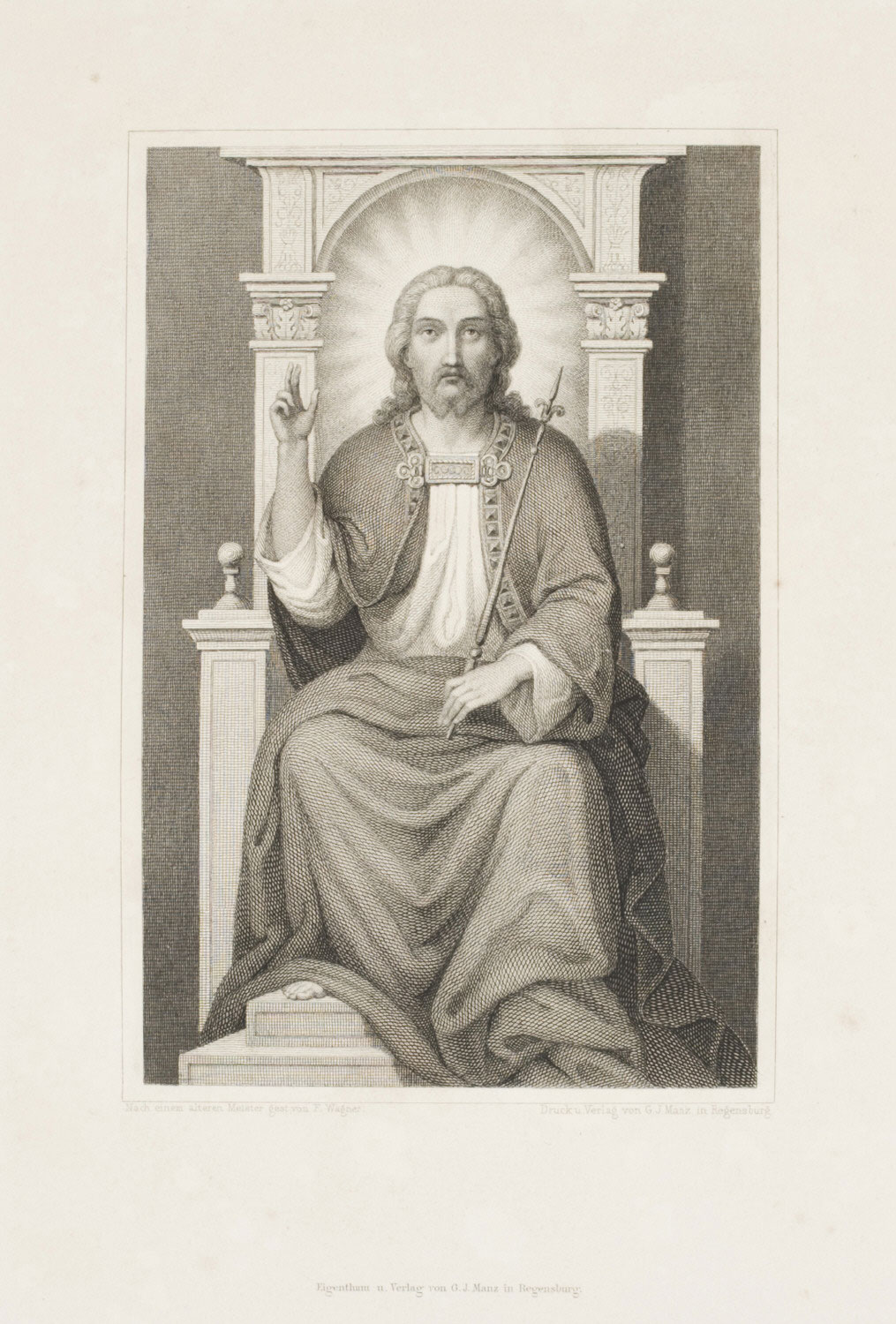 Christ Enthroned  , mid-19th Century, by Friedrich Wagner, German from the  Philadelphia Museum of Art