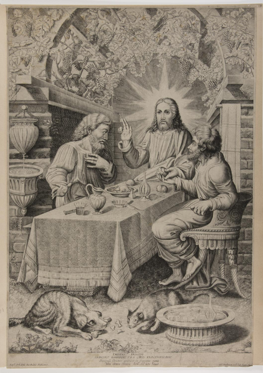 The Supper at Emmaus  , 1642, by Sébastien Vouillemont, Italy. from the  Philadelphia Museum of Art