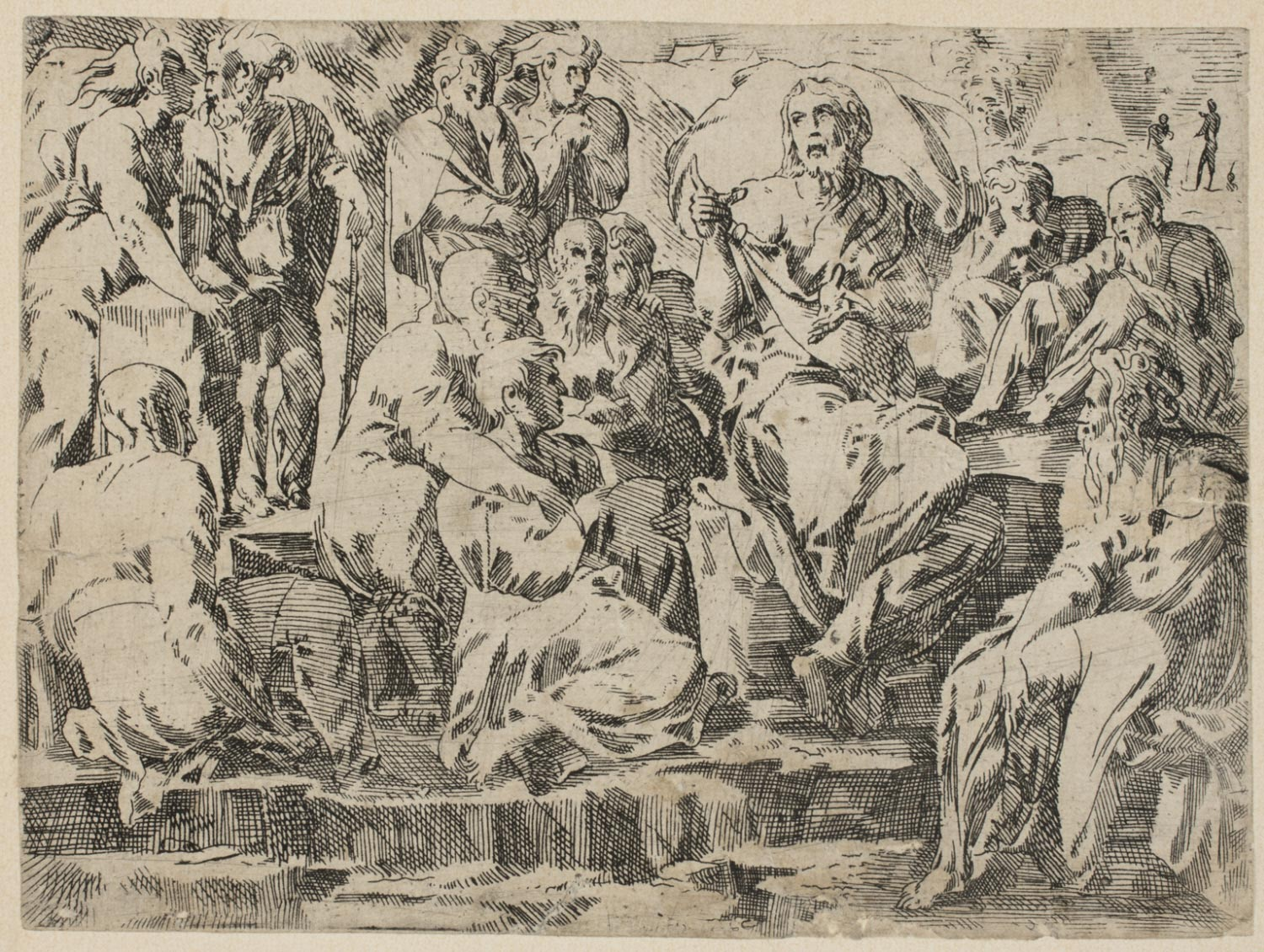 Jesus Preaching Among the Disciples  , 1543-1547, by Geoffroy Dumoûtier, French from the  Philadelphia Museum of Art
