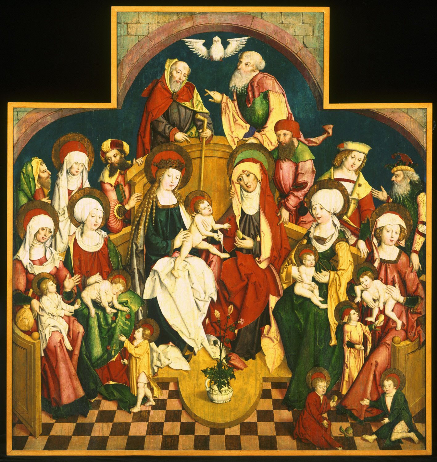 The Holy Kinship  , c. 1500, Attributed to Matthäus Gutrecht the Younger, German, from  the Philadelphia Museum of Art