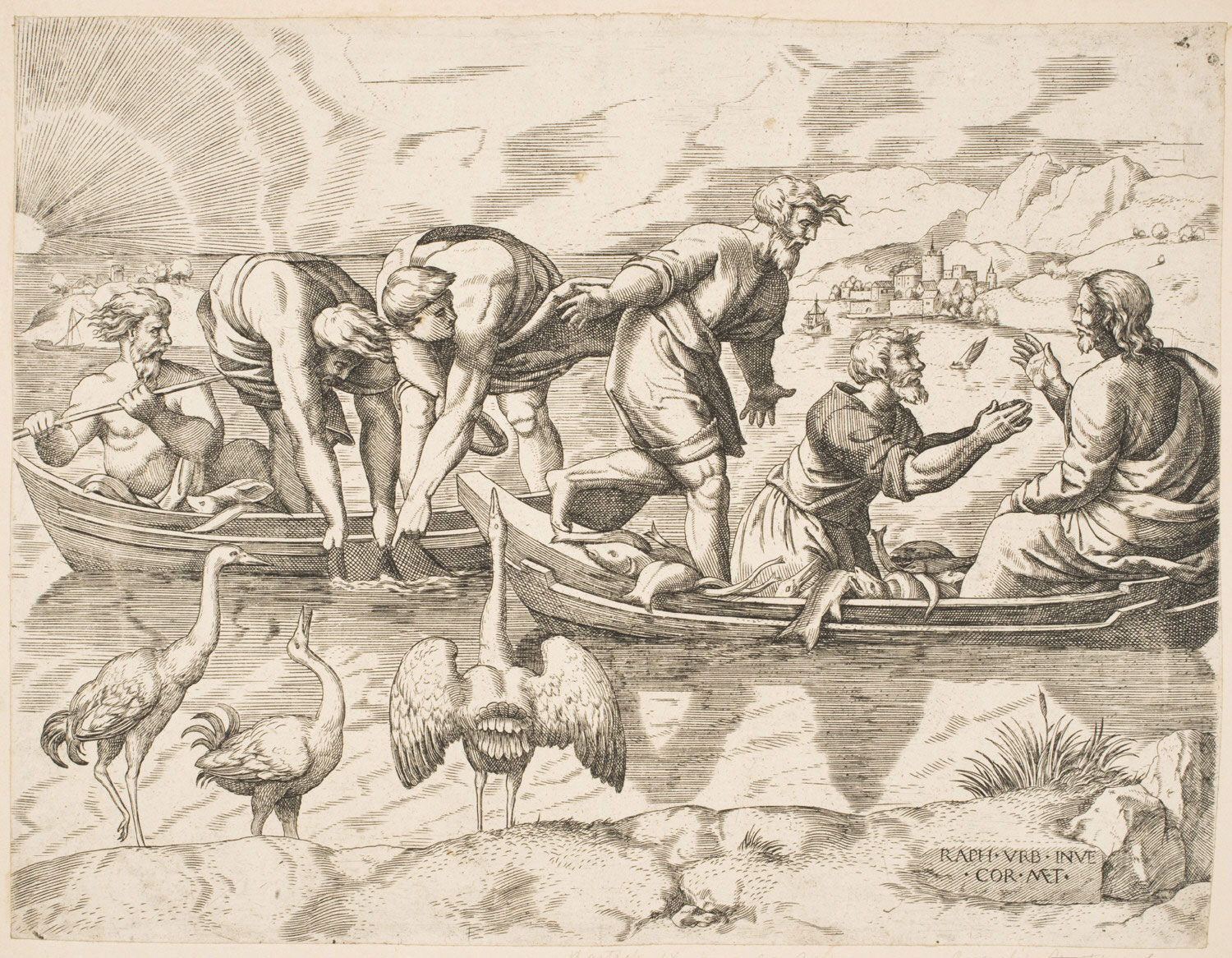 The Miraculous Draught of Fishes  , Mid- 16th century, by Cornelis Matsys, Flemish from the  Philadelphia Museum of Art