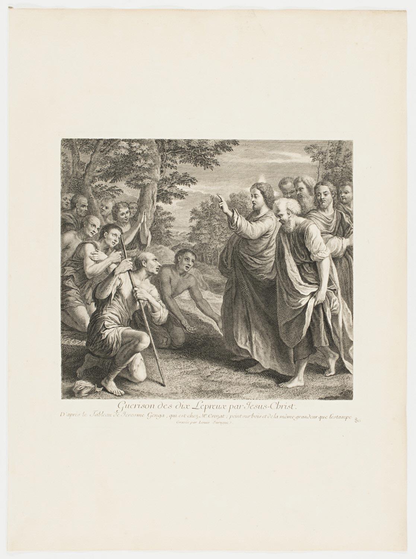 Christ Healing the Sick  , c. 1729, by Louis de Surugue de Surgis, French from the  Philadelphia Museum of Art