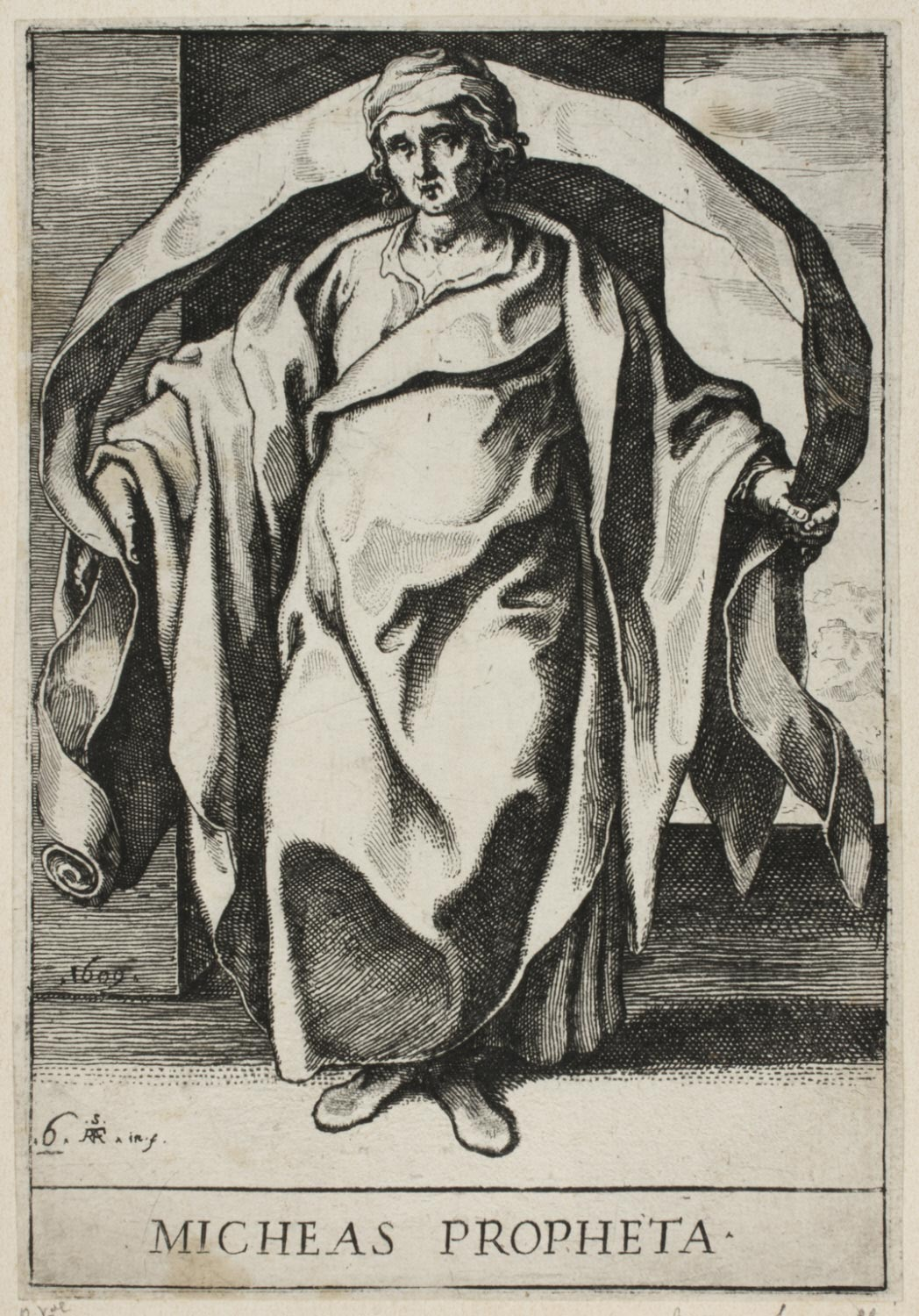 Micah  , 1609, by Raffaello Schiaminossi, Italian from the  Philadelphia Museum of Art