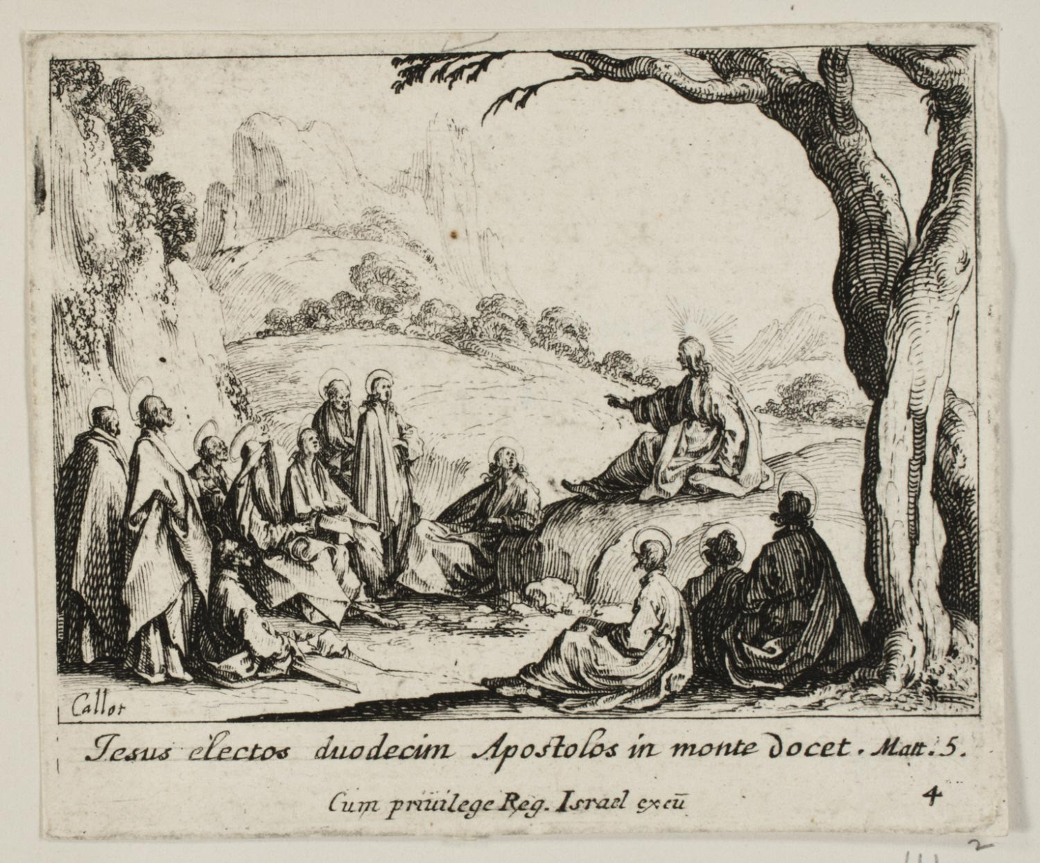 The Sermon on the Mount  , c. 1635, by Jacques Callot, French from the  Philadelphia Museum of Art