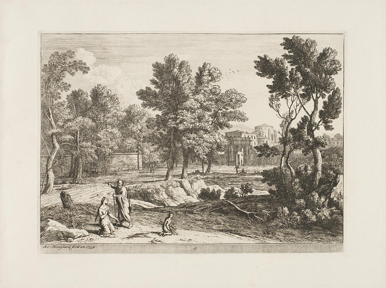 Elijah and the Widow of Zarephath  , 1754 , by Adrien Manglard, French from the  Philadelphia Museum of Art