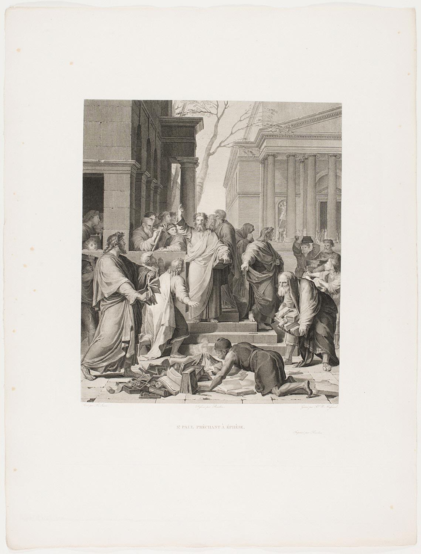 Saint Paul Preaching at Ephesus  , c. 1803, by Jean Baptiste Raphael Urbain Massard, French from the  Philadelphia Museum of Art