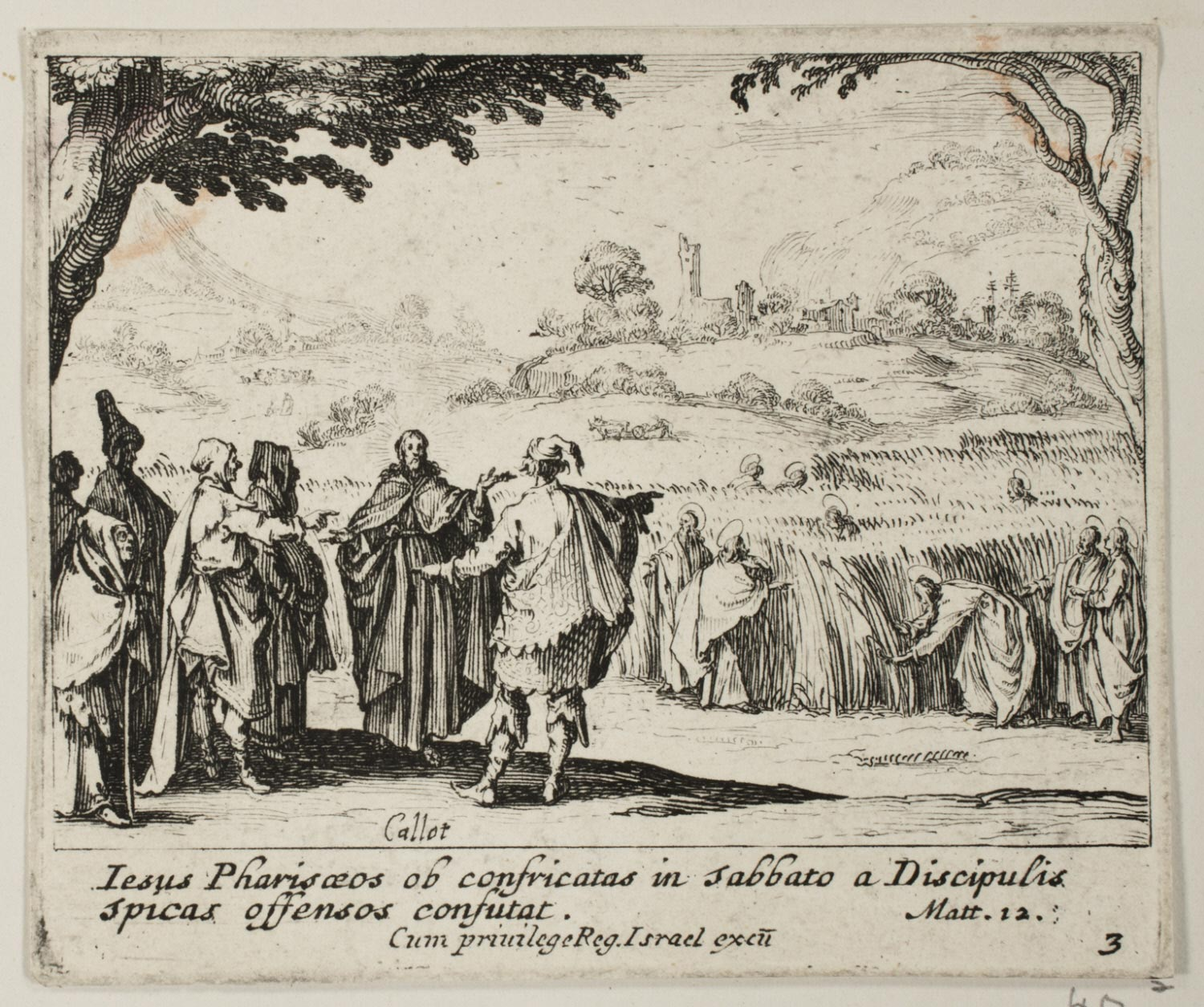 Jesus with the Pharisees  , c. 1635, by Jacques Callot, French from the  Philadelphia Museum of Art