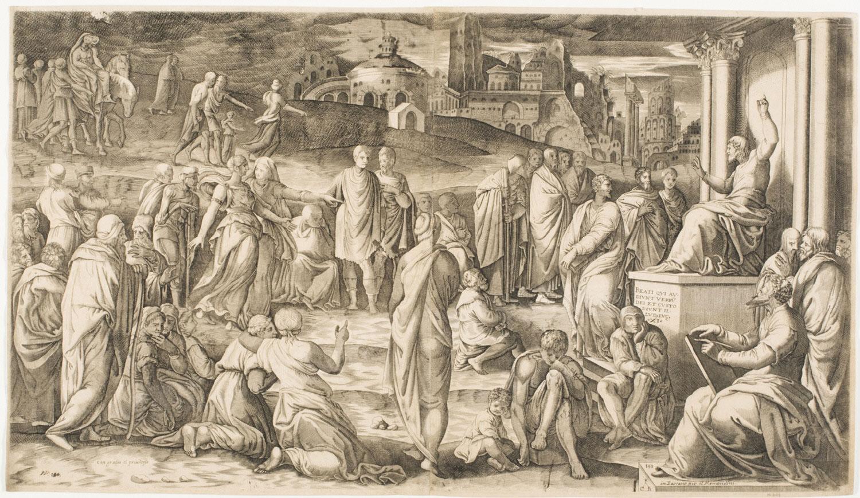 Sermon on the Mount  , Mid 16th Century, by Cornelis Bos, Dutch from  Philadelphia Art Museum