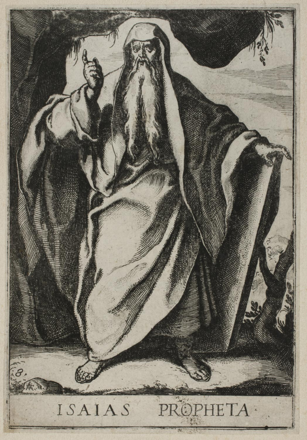 Isaiah  , 1609, by Raffaello Schiaminossi, Italian from the  Philadelphia Museum of Art