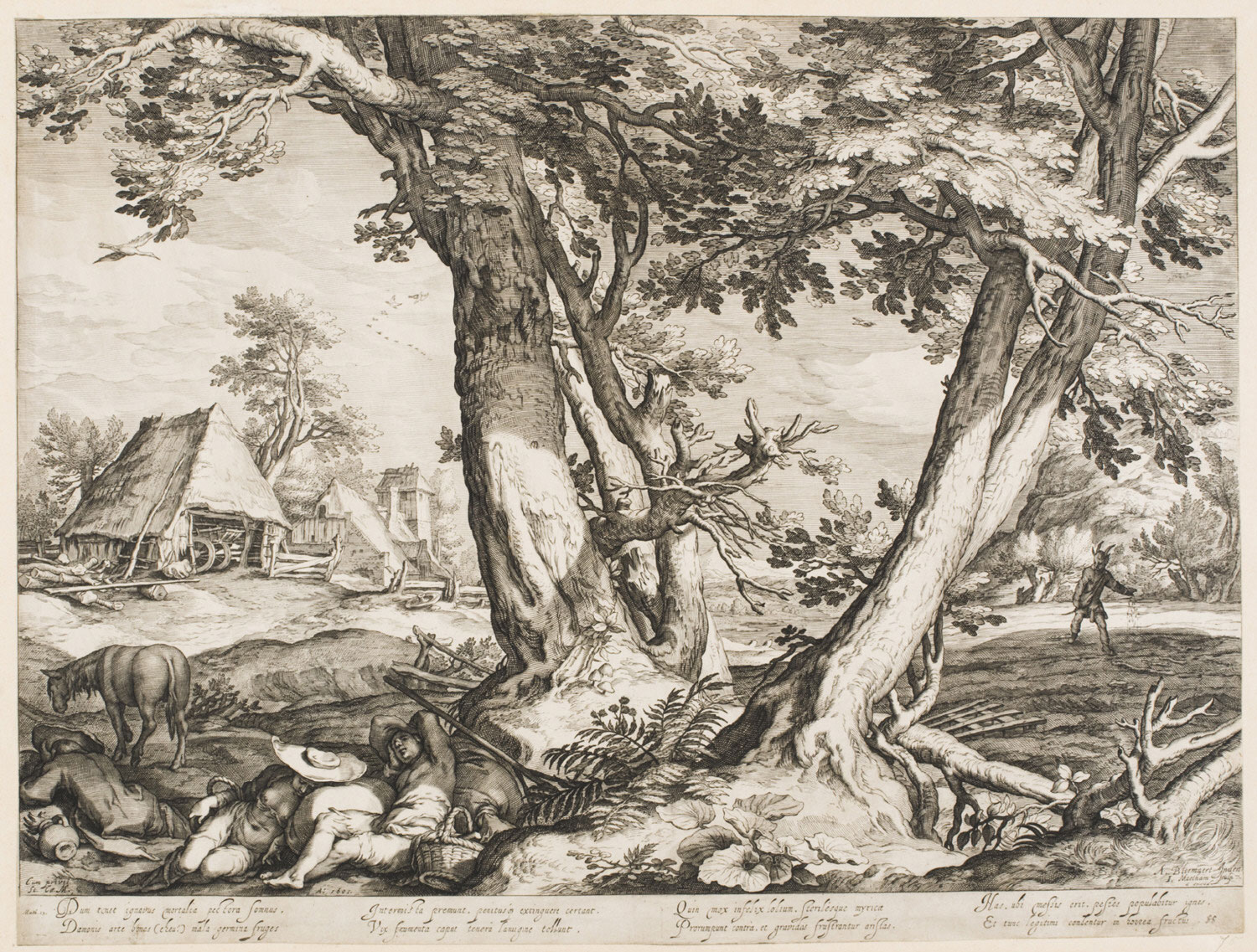 Large Landscape with the Parable of the Sower  , 1605, by Jacob Matham, Dutch from the  Philadelphia Museum of Art