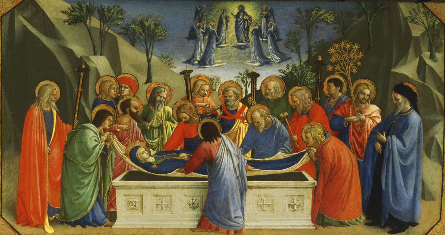 Dormition of the Virgin  , c. 1425, by Fra Angelico, Italy from the  Philadelphia Museum of Art