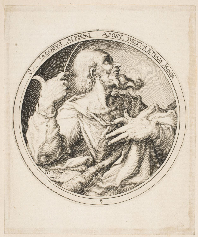 Saint James Minor  , c. 1596, Zacharias Dolendo, Dutch, from  the Philadelphia Museum of Art