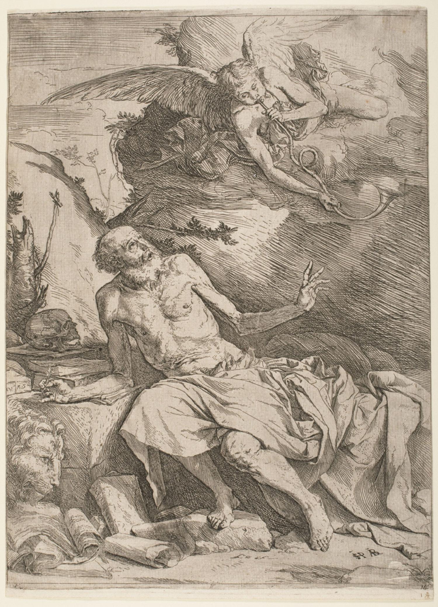 Saint Jerome Hearing the Trumpet of the Last Jugdment  , 1621, by José Jusepe de Ribera, Spanish.  Philadelphia Art Museum