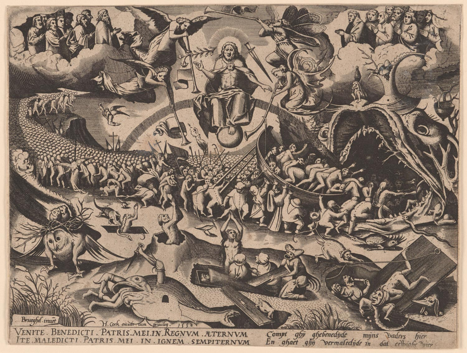 The Last Judgment  , 1558, artist unknown, Netherlandish? from  Philadelphia Art Museum