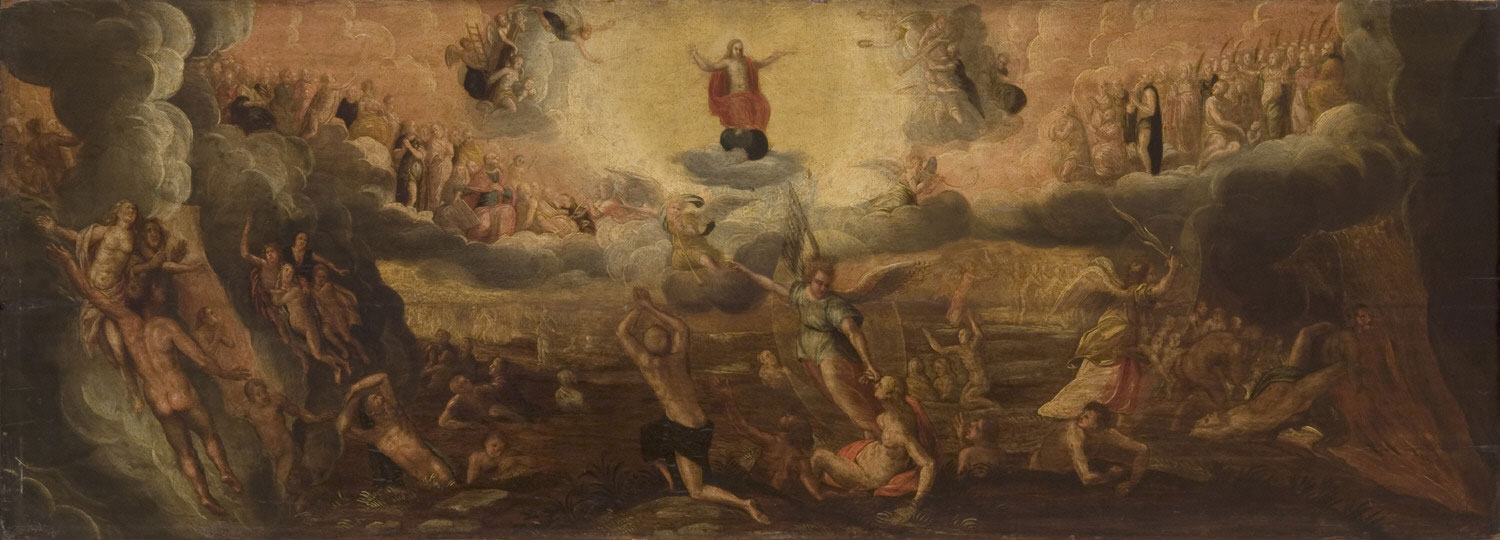 The Last Judgment  , late 16th century, by a follower of Jacob de Backer, Netherlandish.  Philadelphia Art Museum