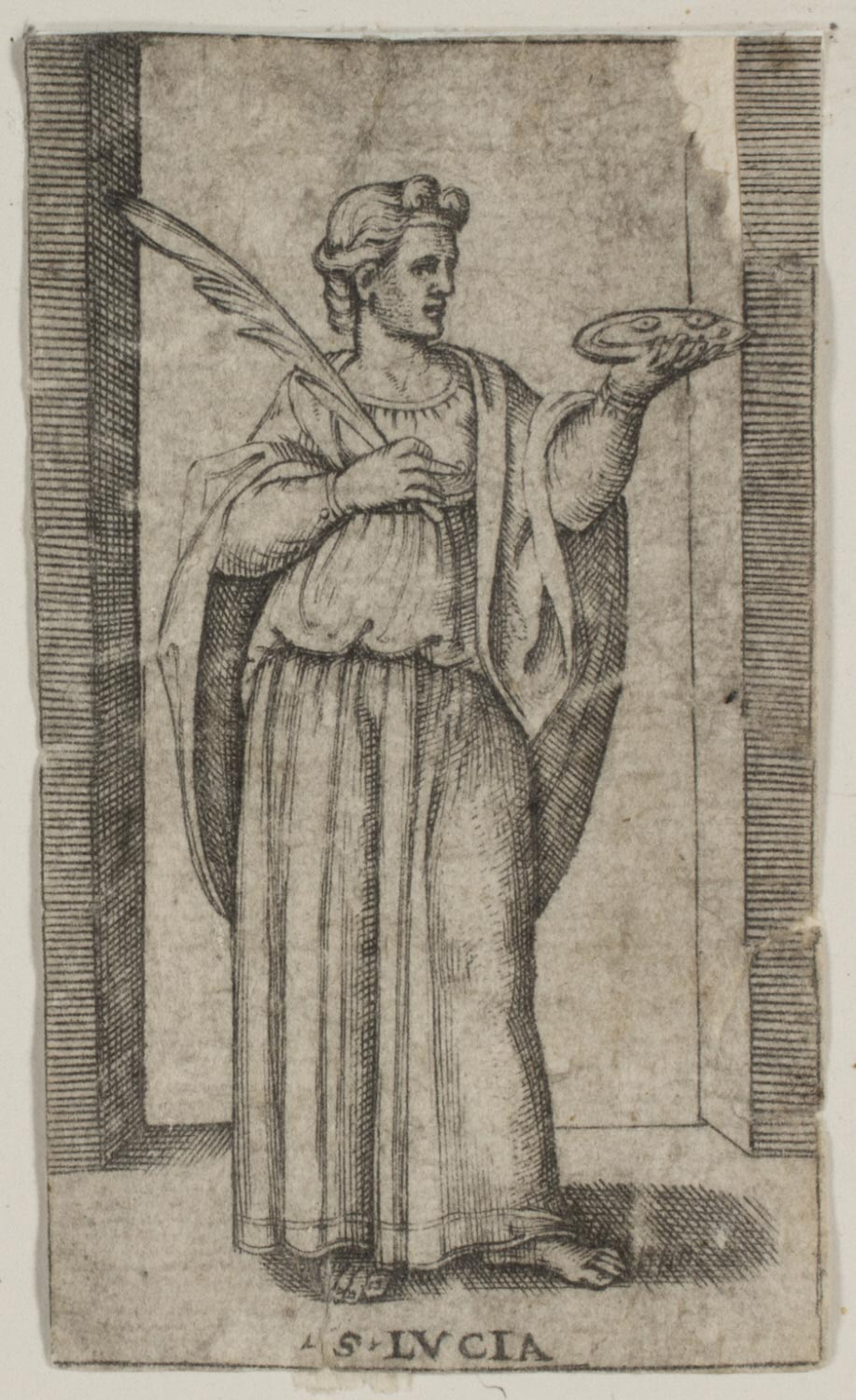 St. Lucy  , 16th century, artist/maker unknown, Italy, from  the   Philadelphia Museum of Art