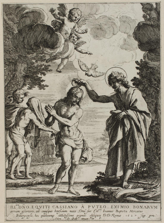 Baptism of Christ  , 1627, by Giovanni Battista Mercati, Italian from the  Philadelphia Museum of Art